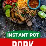 Pinterest image for Instant Pot Carnitas