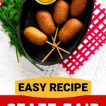 Pinterest graphic for best corn dog recipe!