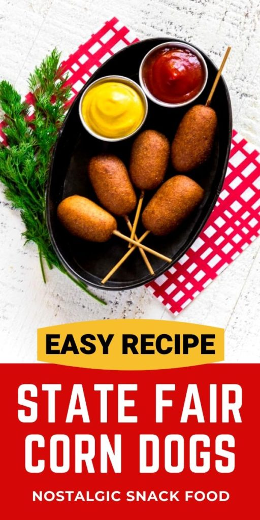 Pinterest graphic for best corn dog recipe!