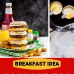 Pinterest graphic for copycat McDonald's Sausage Egg McMuffin.