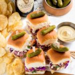 Party sandwiches for St. Patrick's Day and Game Day snacks.