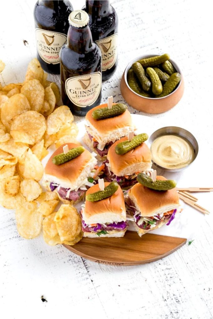 Party Sandwiches for St. Patrick's Day celebration.