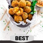 Pinterest Graphic for Best Mac and Cheese Bites Recipe