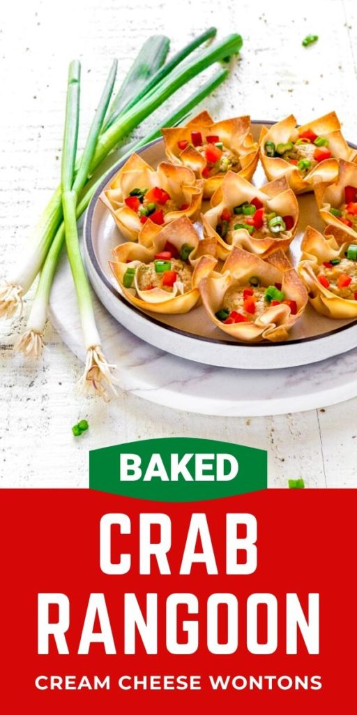 Pinterest graphic for Baked Crab Rangoon.