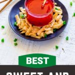 Pinterest graphic for sweet and sour sauce recipe.