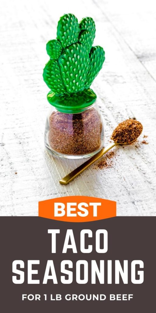 Pinterest graphic for Best Taco Seasoning Recipe