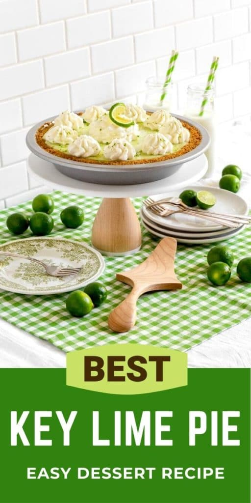 Pinterest Graphic for Best Key Lime Pie