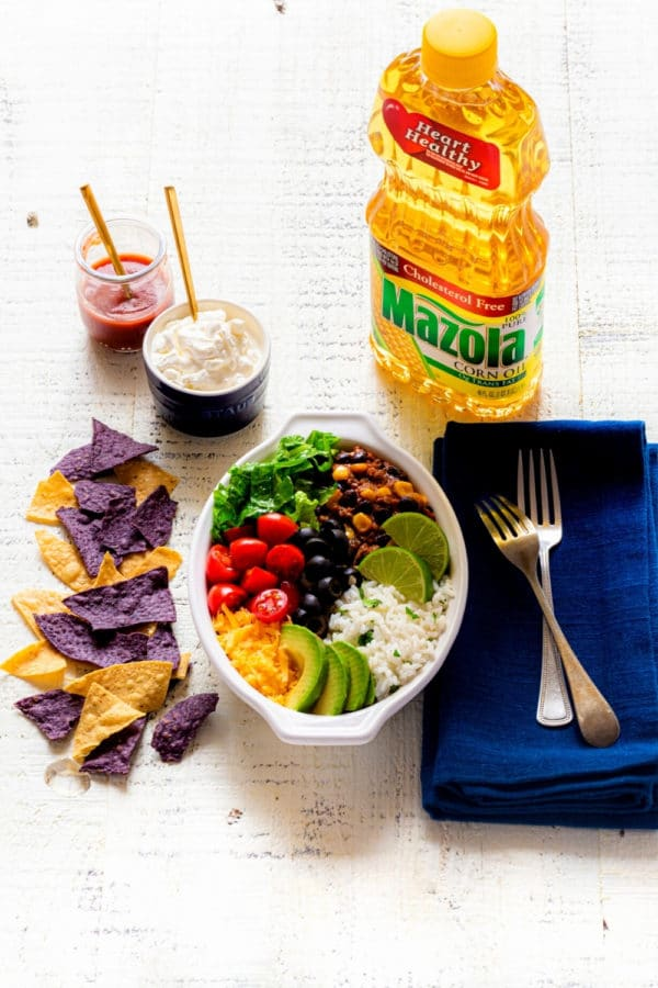 Featured image for healthy burrito bowl recipe.