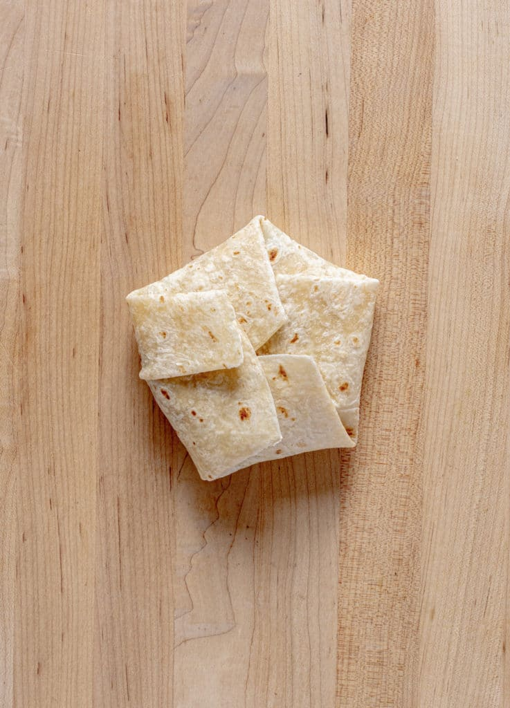 Image showing how to fold a crunchwrap with six sides.
