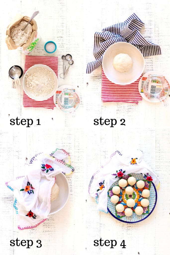 How to make corn tortillas in 4 step-by-step images.
