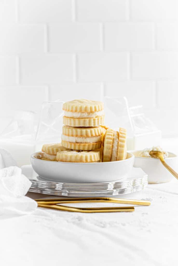 Vanilla Creme Sandwich Cookies.