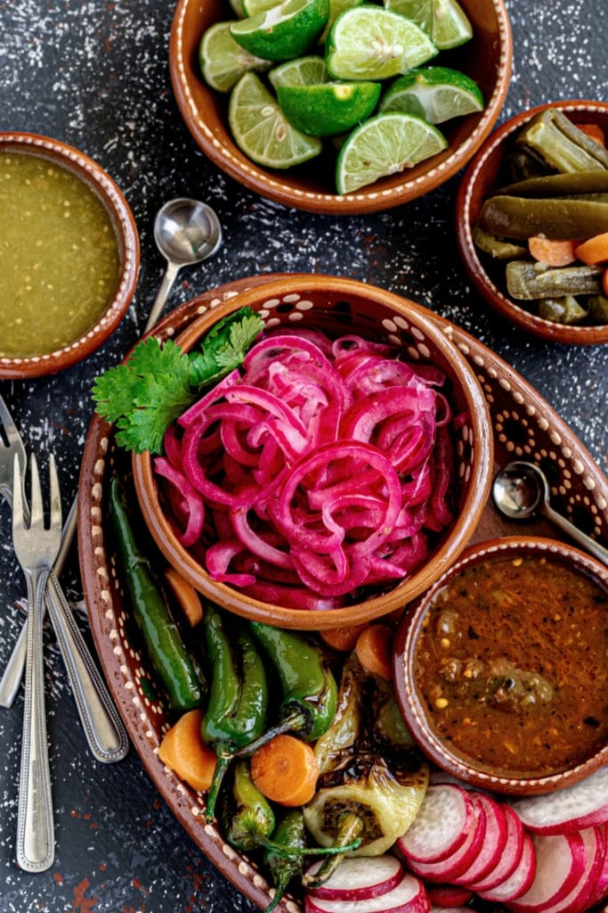 Pinterest graphic for Mexican Pickled Onions