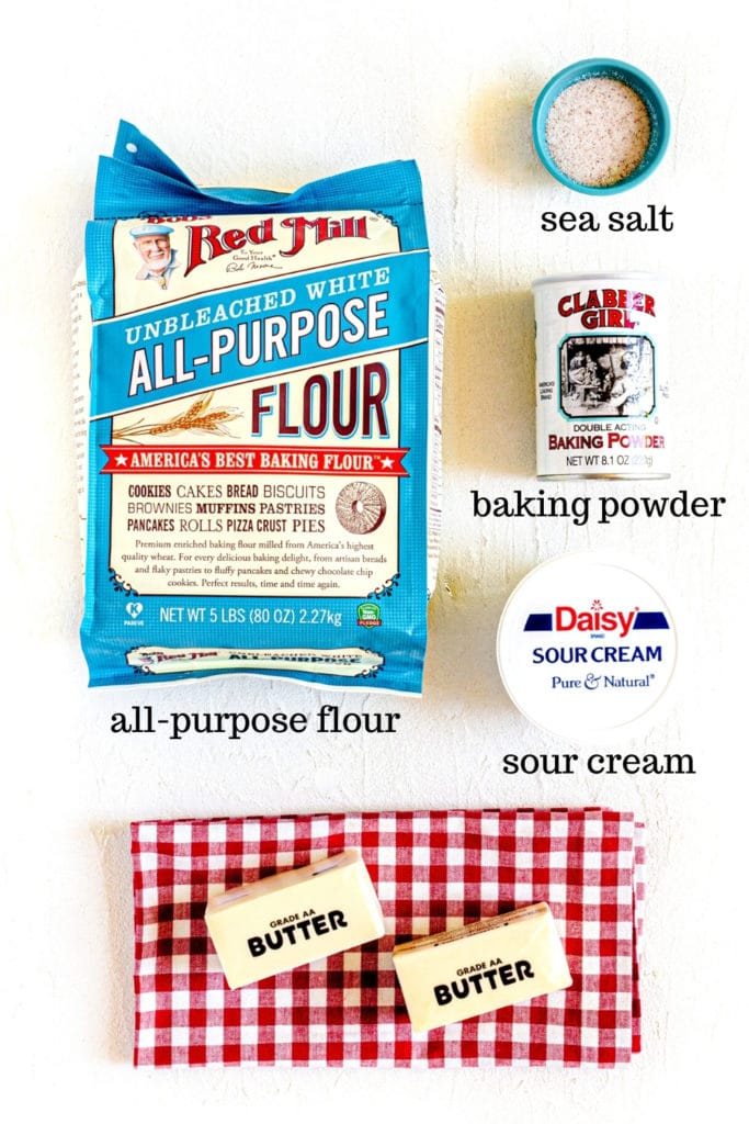 Puff pastry dough ingredients for cherry turnovers recipe.