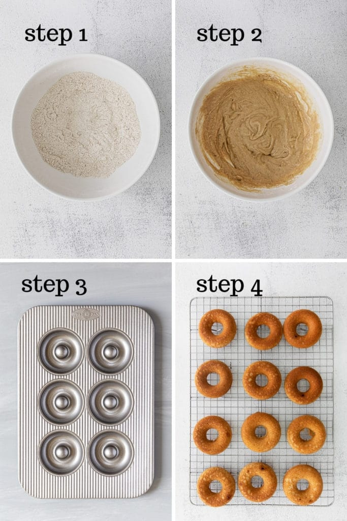 How to make baked donuts in 4 easy steps.