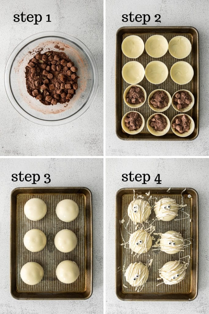 How to Make Hot Cocoa Bombs in 4 easy steps.