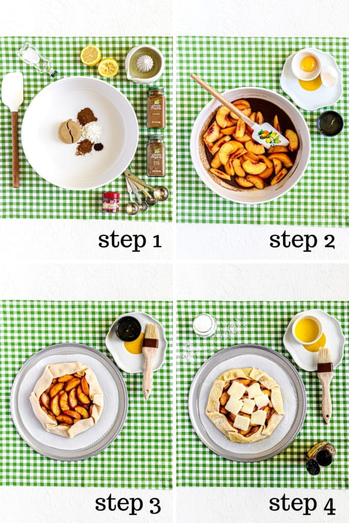 How to make peach galette recipe in 4 easy steps.