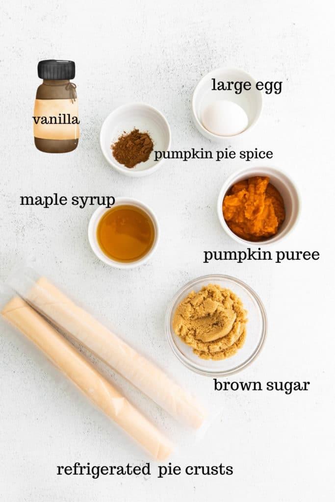 Ingredients for homemade pumpkin pop tarts.