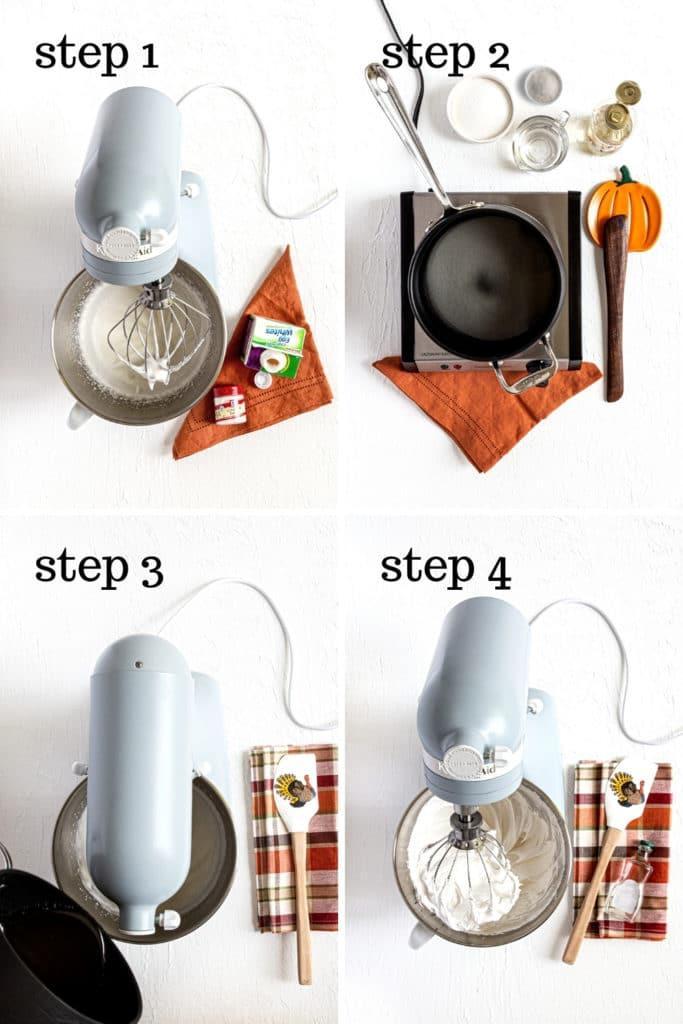 How to make homemade marshmallow fluff in 4 easy steps.