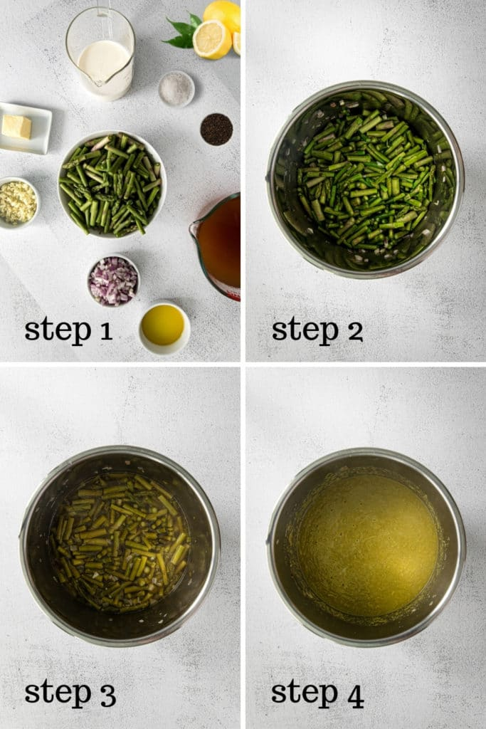 How to make asparagus soup in 4 easy steps.
