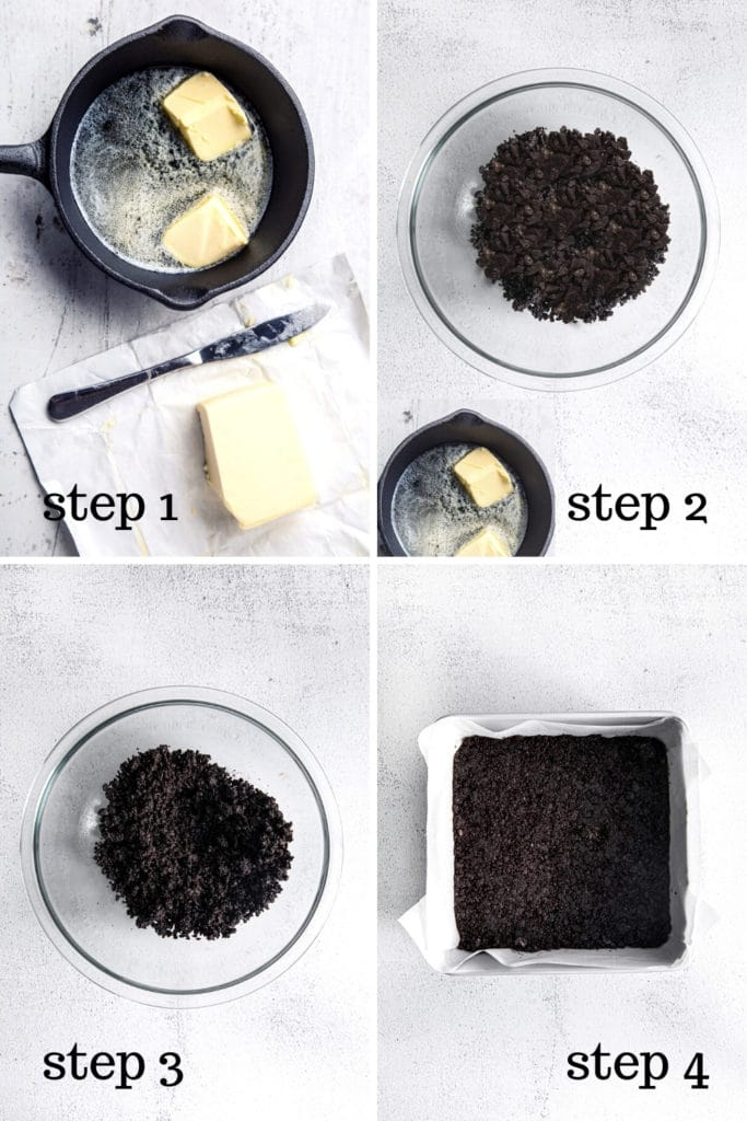 How to make an Oreo Crumb Crust in 4 easy steps.