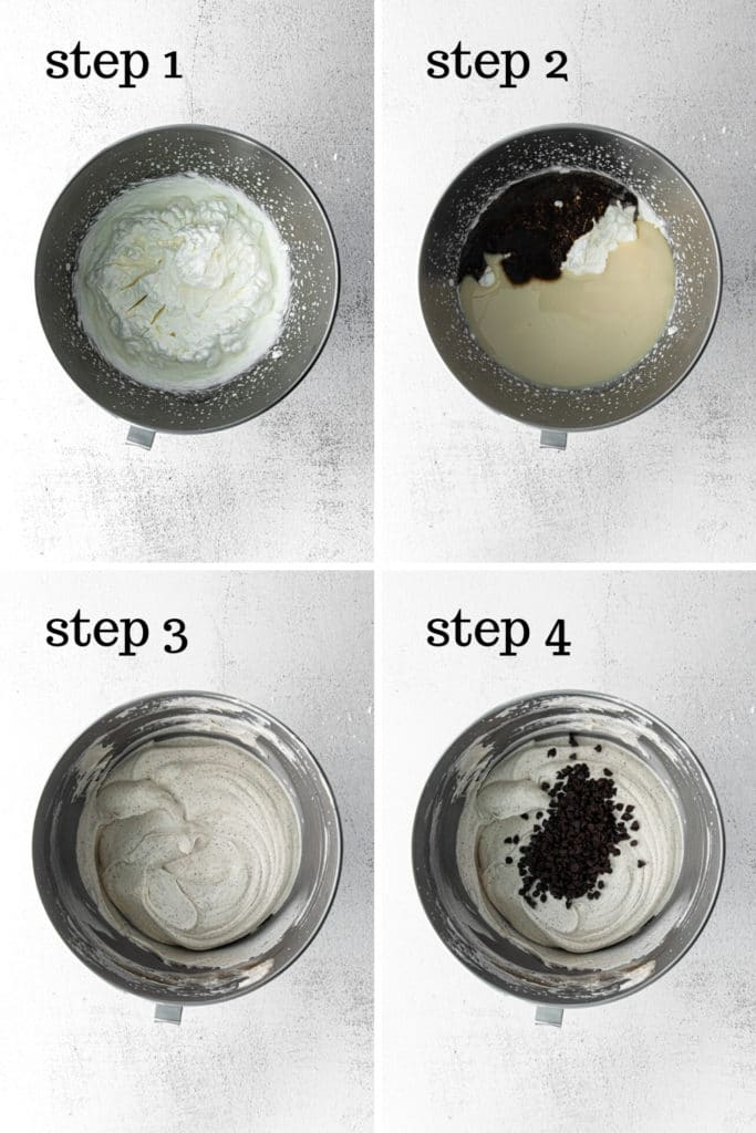 How to make chocolate chip ice cream in 4 easy steps.