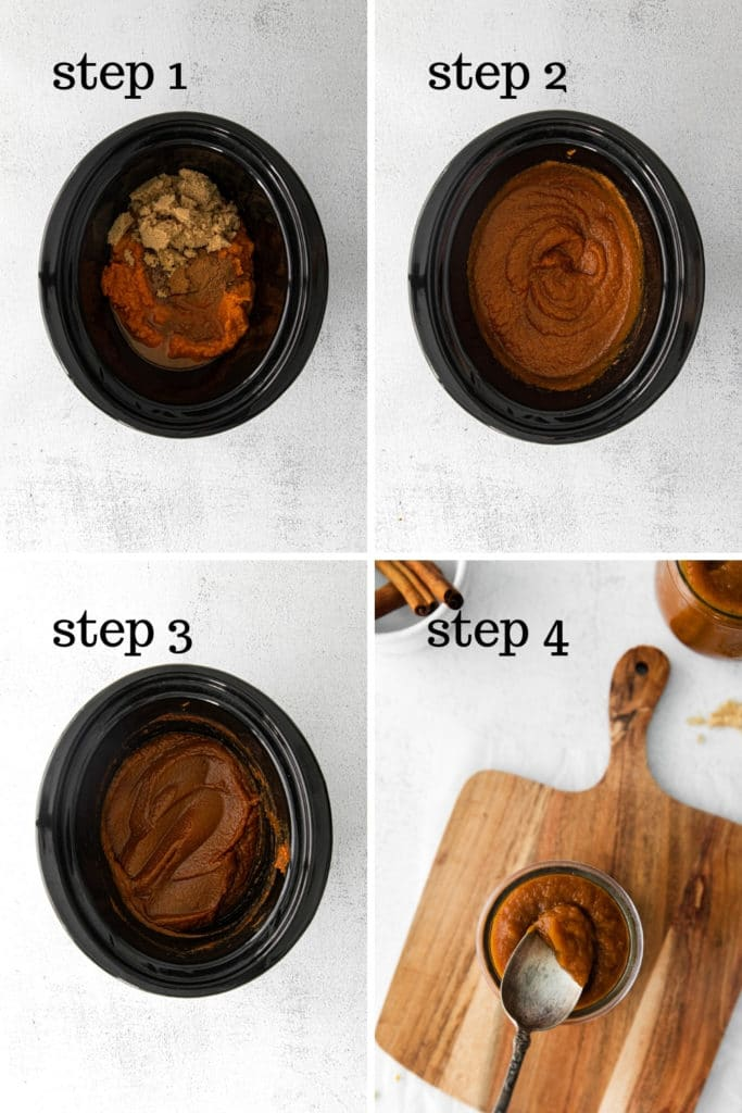 How to make pumpkin butter in 4 easy steps.