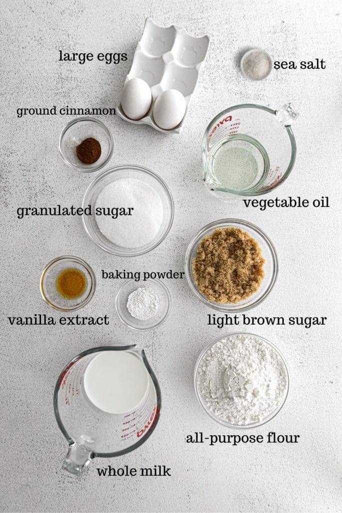 Ingredients for making Thanksgiving cupcakes.