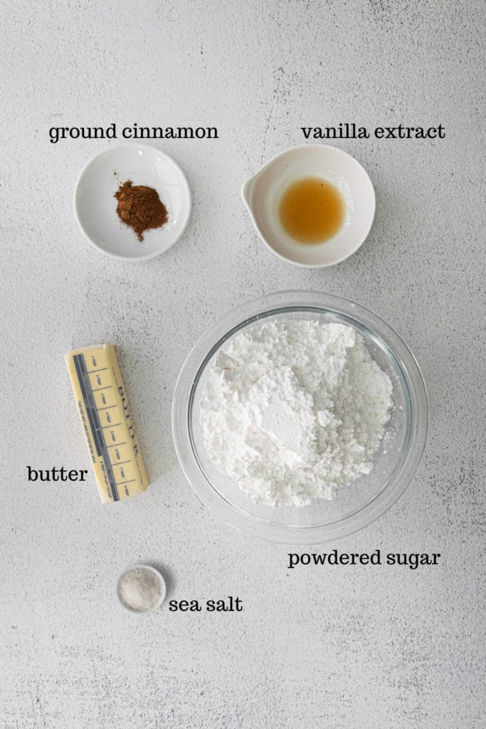 Ingredients for cupcake frosting.