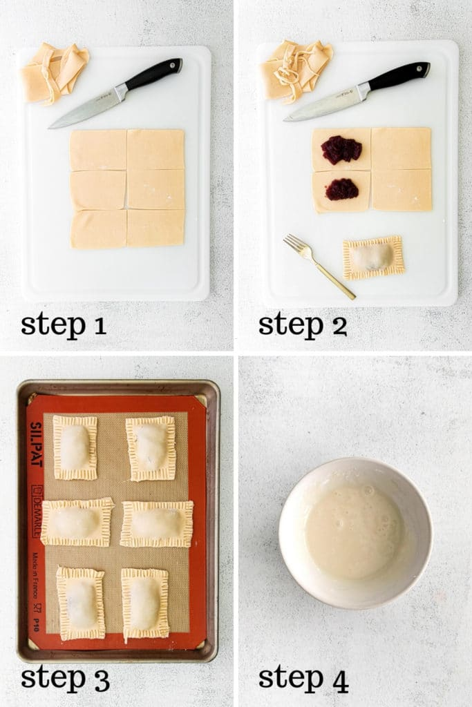 How to make frosted strawberry pop tarts in 4 easy steps.